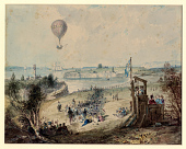 view Mr. Green and Capt. Curry ascended in the albion balloon, Weymouth, Dorset digital asset number 1
