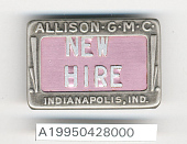 view Allison Division General Motors Corp. Identification Badge digital asset number 1