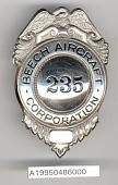view Badge, Security Officer, Beech Aircraft Co. digital asset number 1