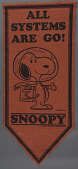 view Banner, NASA Flight Safety, Snoopy, Red digital asset number 1