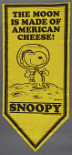 view Banner, NASA Flight Safety, Snoopy, Yellow digital asset number 1