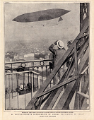 view M. Santos-Dumont's Experiments in Aerial Navigation in Paris digital asset number 1