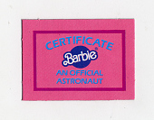 view Certificate, Barbie, Astronaut, African American digital asset number 1
