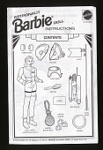 view Instruction Card, Barbie, Astronaut, Toys R Us digital asset number 1