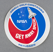 view Decal, NASA Get Away Special Payloads, Sally Ride digital asset number 1