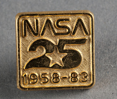 view Pin, NASA 25th Anniversary, Sally Ride digital asset number 1