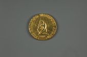 view Medallion, The Museum of Science, Boston, Mass, Arthur C. Clarke digital asset number 1