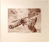 """view September 1918- Low level attack on a well protected observation balloon... the """"Balloon Buster"""", Frank Luke in a Spad digital asset number 1"""