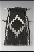 """view Loom and weaving with """"cacique's mantle"""" design digital asset number 1"""