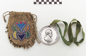 view Abraham Lincoln peace medal (dated 1862) and pouch digital asset number 1