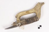 view Adze with wolf-effigy handle digital asset number 1