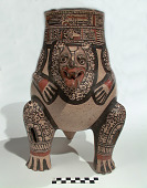 view Vessel with rattle legs in the form of a jaguar digital asset number 1