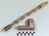 view Pipe bowl with horsehead effigy and pipestem digital asset number 1