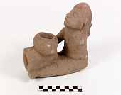 view Pipe bowl with human figure digital asset number 1
