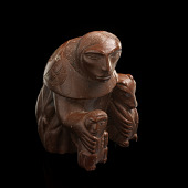 view Figure of a woman carrying a child and a bear cub digital asset number 1