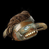 view Mask headdress representing a thunderbird with human features digital asset number 1