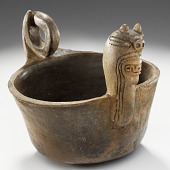 view Bowl depicting Underwater Panther or Great Serpent digital asset number 1