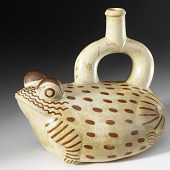 view Stirrup-spout bottle in the form of a frog digital asset number 1