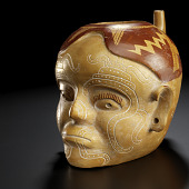 view Vessel in the form of a human trophy head digital asset number 1