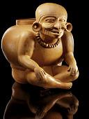 view Jar representing Huehuetéotl (the old god or god of fire) digital asset number 1