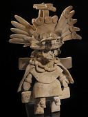 view Figure of a priest wearing a Tláloc mask digital asset number 1