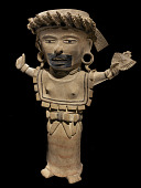 view Figure of a woman, possibly a priestess, holding a fan digital asset number 1