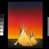 view Two Teepees at Sunset digital asset number 1