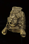 view Puebla-style ring depicting Xipe Totec (god of spring and agriculture) digital asset number 1