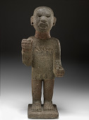 view Chinampanec-style statue of Xipe Totec (god of spring and agriculture), with glyph representing the date 1 Acatl (A.D. 1507) digital asset number 1