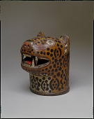 view Qero in the form of a jaguar's head digital asset number 1