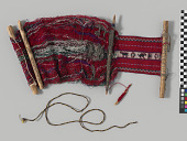 view Loom, unfinished weaving, and weaving tools digital asset number 1