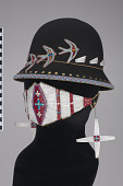 view Face covering/Face mask, hat, and earrings digital asset number 1