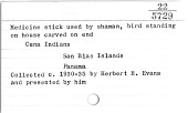 view Shaman's wand/baton (Image withheld) digital asset number 1