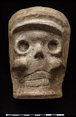 view Mold/form for shaping sugar or papier mache skulls for Day of the Dead celebrations digital asset number 1