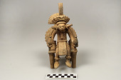 view Figure of a seated noble or priest holding rattles digital asset number 1