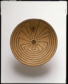 """view Basket tray with """"Man in the Maze"""" design digital asset number 1"""