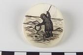 view Brooch/Pin depicting hunter digital asset number 1