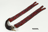 view Powder horn with bandolier strap digital asset number 1