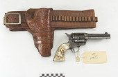 view Colt Frontier .45 caliber revolver, belt, and holster digital asset number 1