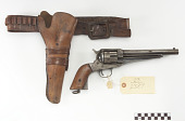 view Remington .45 caliber revolver, belt, and holster digital asset number 1