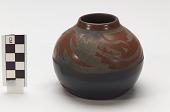 view Miniature pot/vessel with avanyu (water serpent) design digital asset number 1