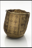 view Basket worn at a woman's waist when picking berries or digging roots digital asset number 1
