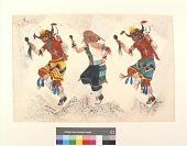 view Three Buffalo Dancers digital asset number 1