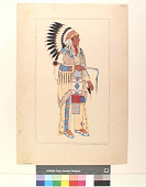view Oglala Chief in Formal Costume, 1885 digital asset number 1