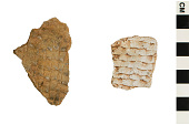 view Corrugated Sherds, Prehistoric Southwestern Pottery Fragments digital asset number 1
