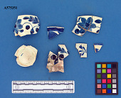 view Blue-painted pearlware cup and plate sherds digital asset number 1