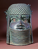 view Bronze commemorative head of an oba or king digital asset number 1