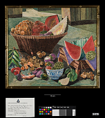 "view Silk Embroidery ""Painting"": ""Basket of Thai Fruits"" digital asset number 1"