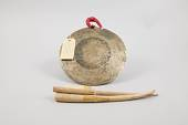 view Gong And Playing Sticks For Kathakali Musicians digital asset number 1