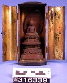 view Buddha In Meditation, Sandal-Wood In Lacquered Shrine digital asset number 1